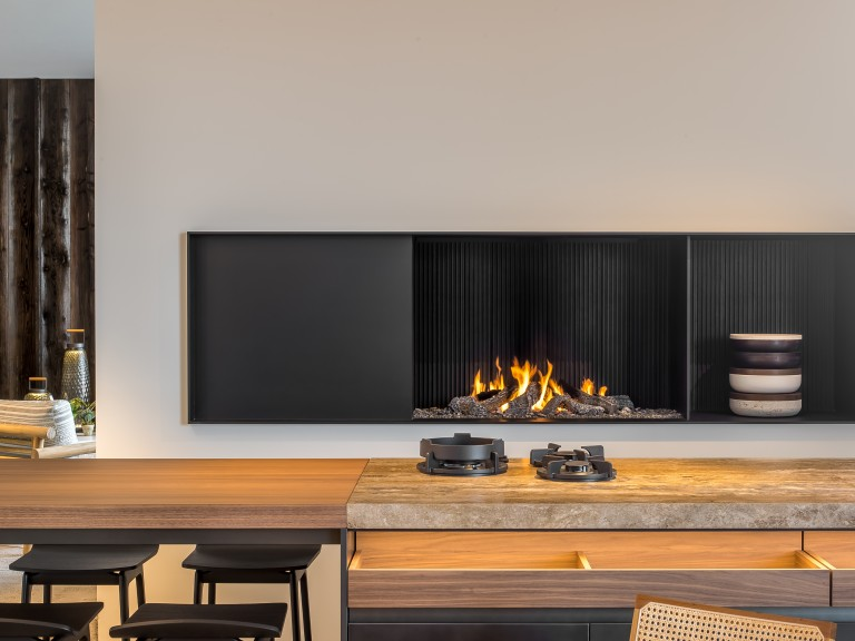 Metalfire Urban open gas fireplace made to measure Gashaard